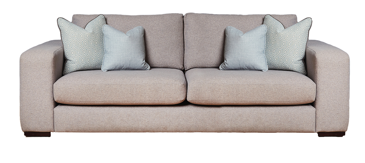 Colorado Large Sofa in Belize Azzure Bronze Collection Fabric