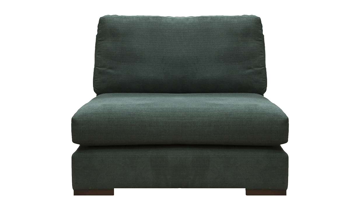 Colorado Love Seat Unit in Hendrix 500 Jade, Silver Collection Fabric