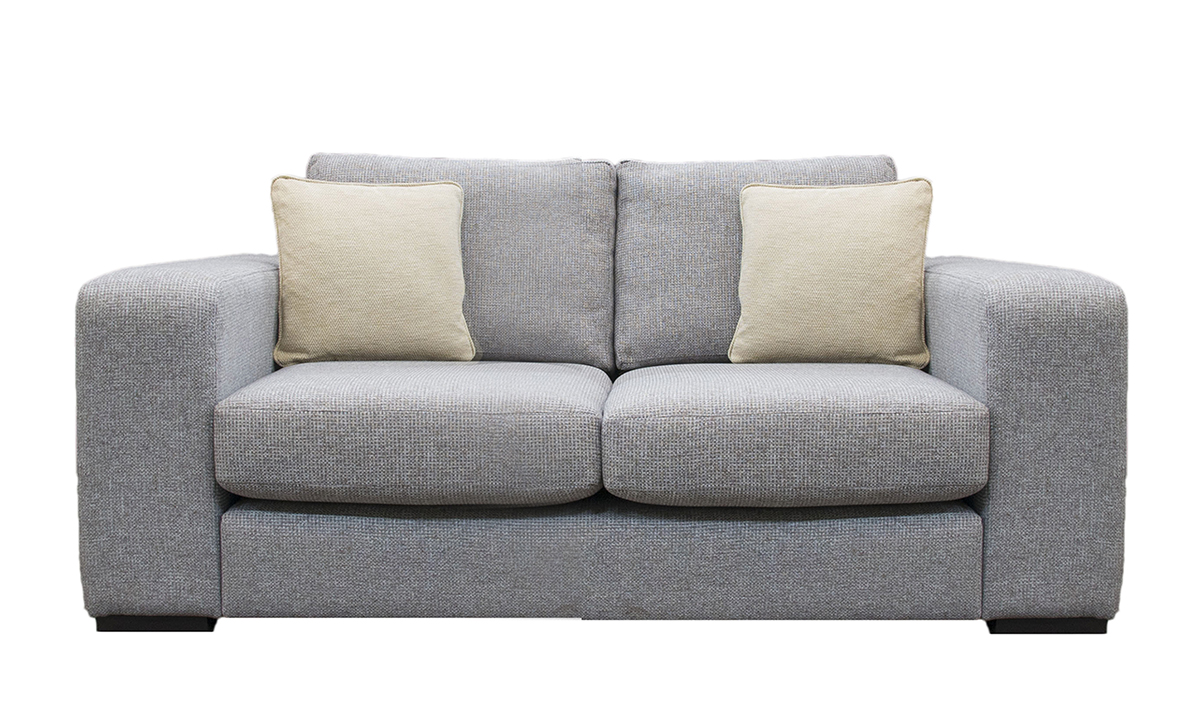 Colorado Small Sofa in Milwaukee Grey, Bronze Collection Fabric