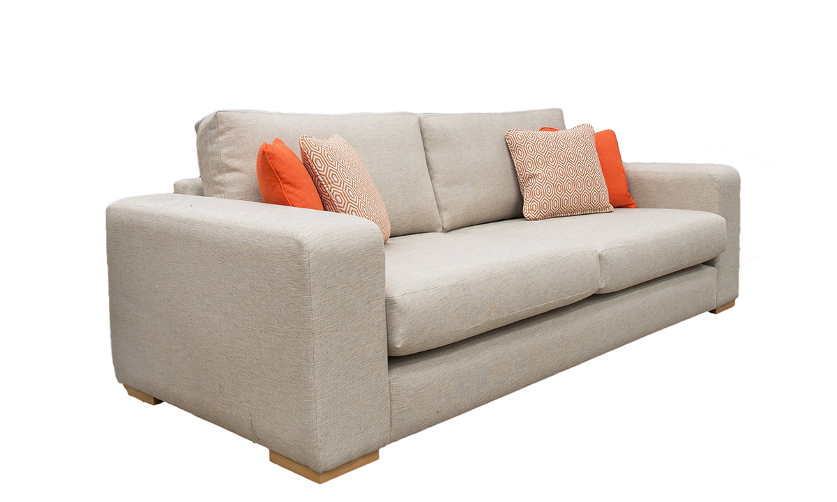 Colorado Large Sofa in Ado Caramel, Bronze Collection Fabric