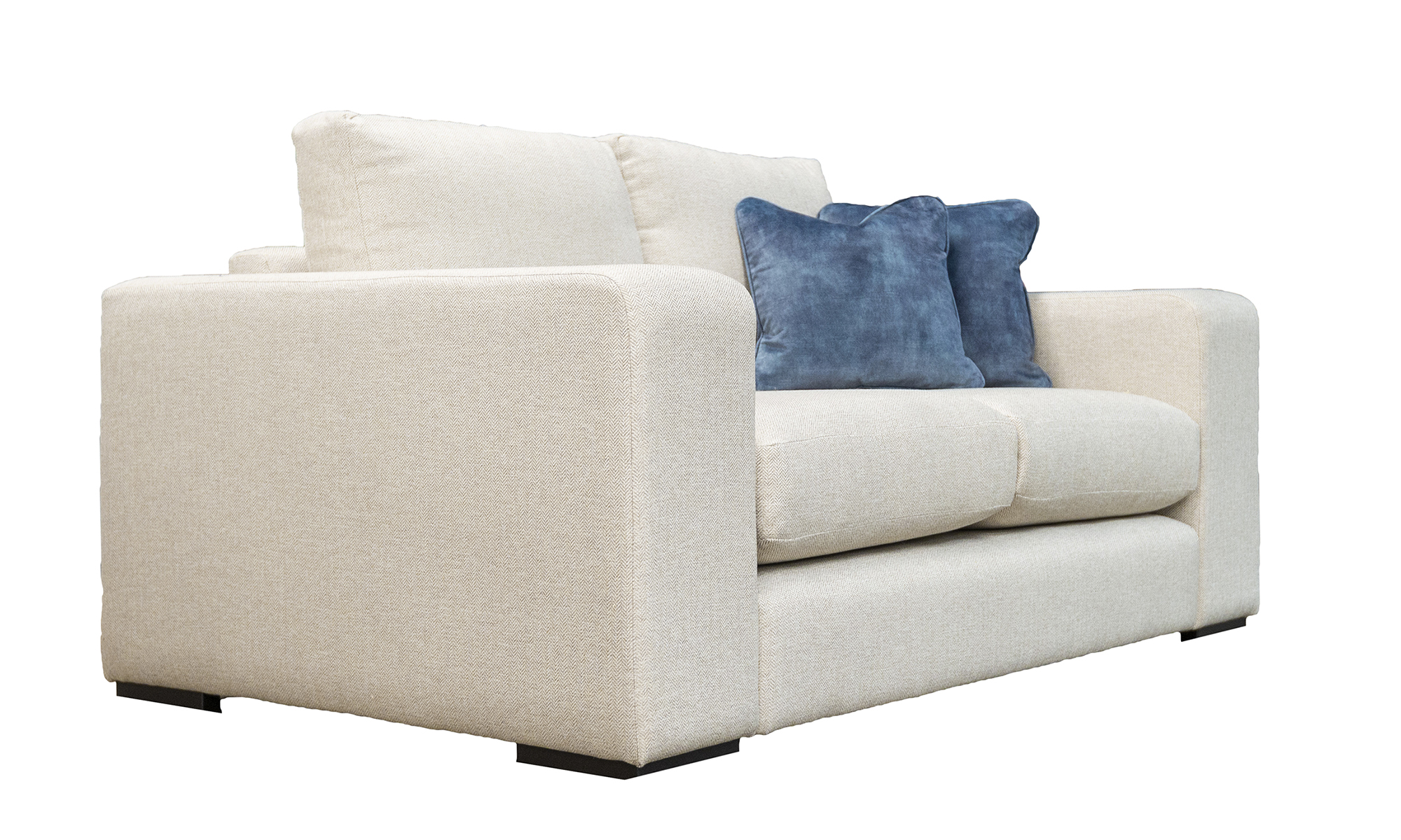 Colordao 2 Seater Sofa in Port Honey, Silver Collection Fabric