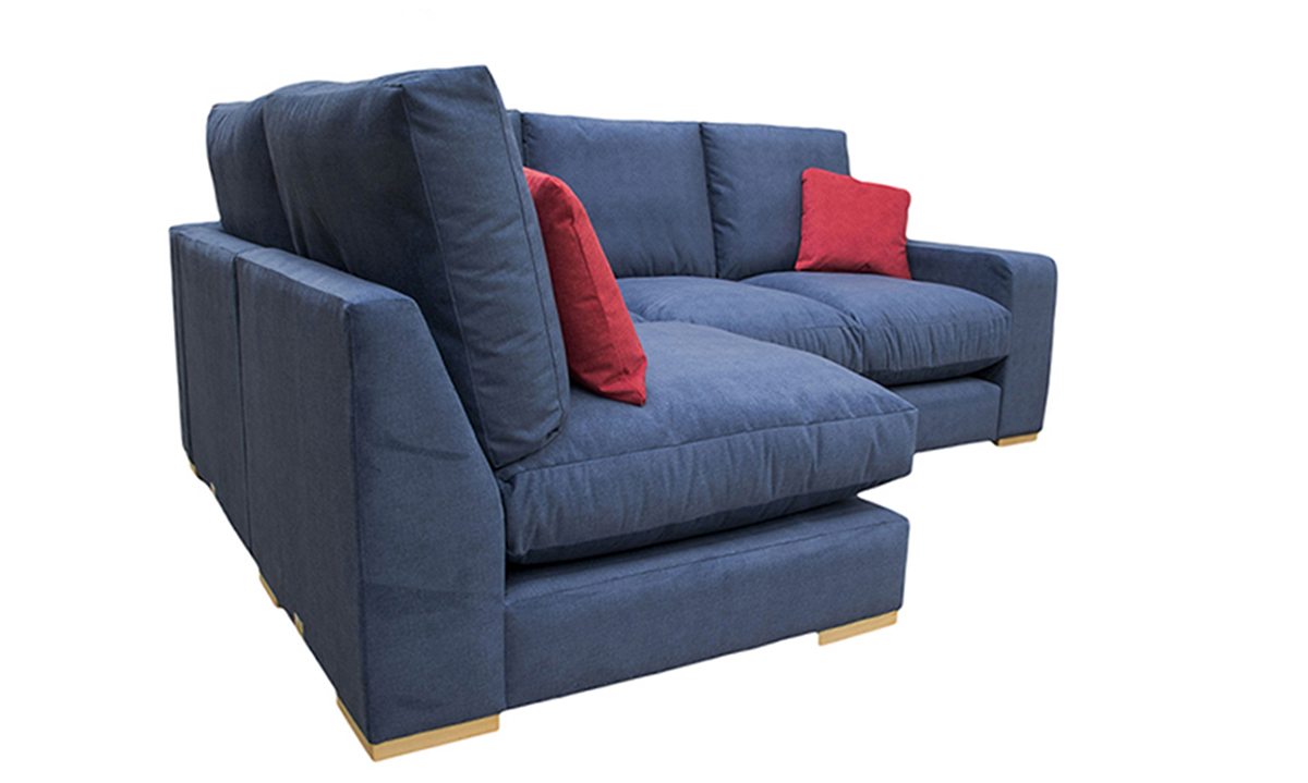 Bespoke Colorado Corner Sofa,  Fibre Seat Cushions in Discontinued Fabric