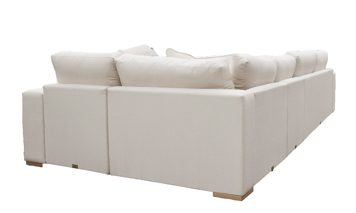 Colorado Corner Sofa in Aosta Cream,  Silver Collection Fabric