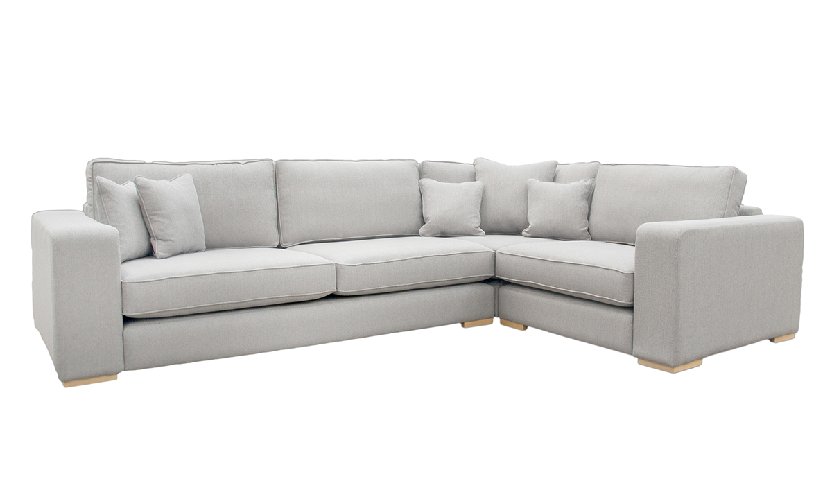 Colorado Corner Sofa in Aosta Grey, Silver Collection Fabric
