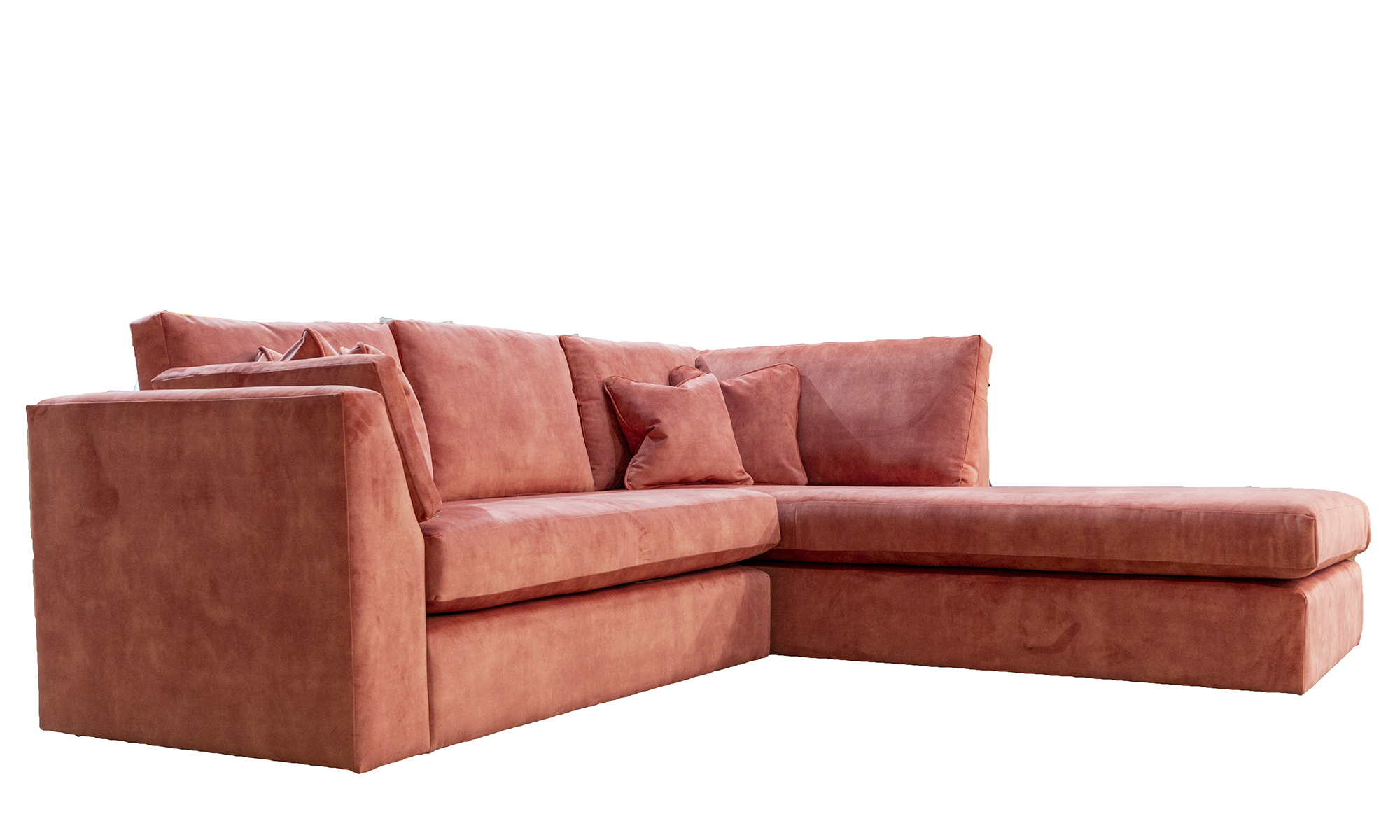 Como-Chaise-Sofa-Side-in-Lovely-Coral-Gold-Collection-Fabric