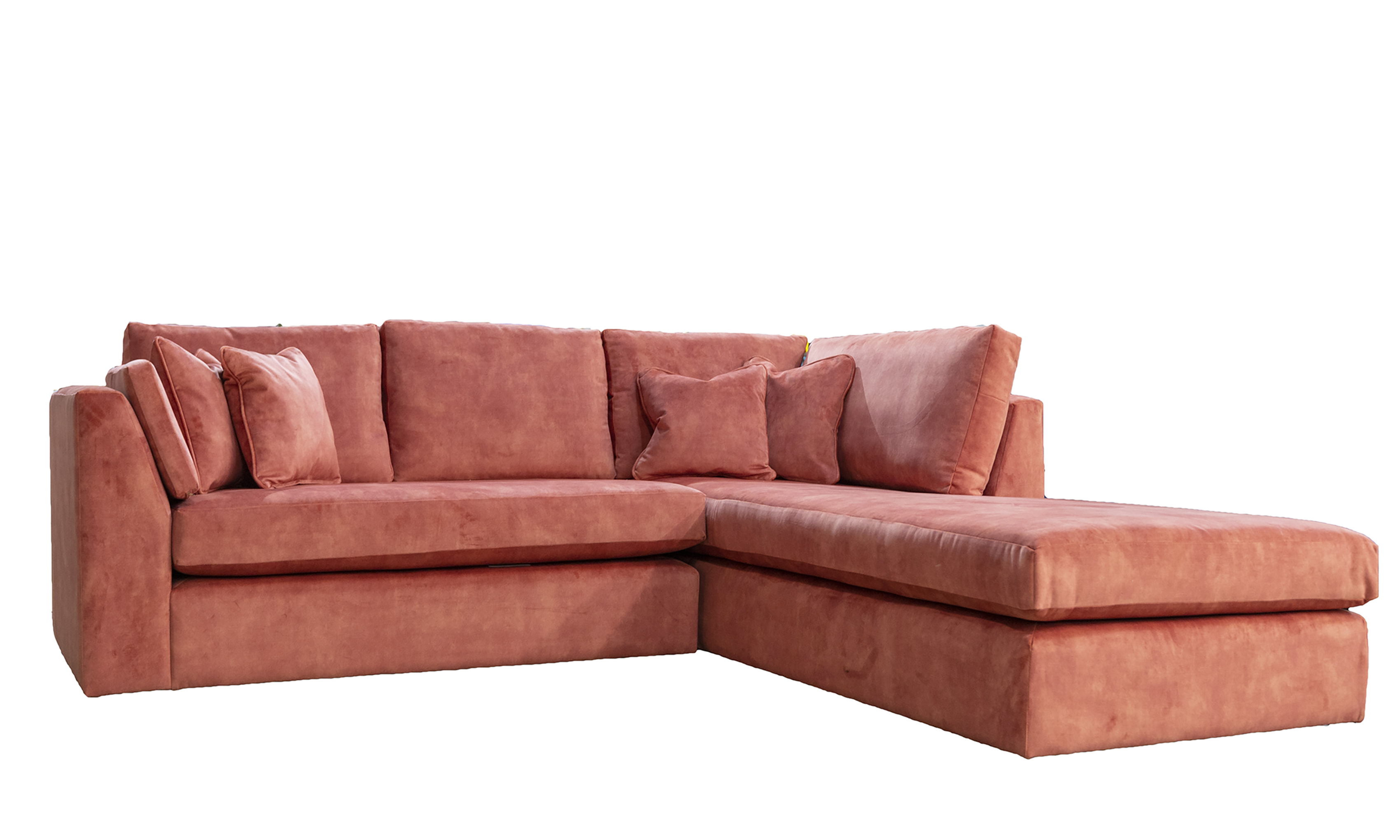 Como-Chaise-Sofa-in-Lovely-Coral-Gold-Collection-Fabric