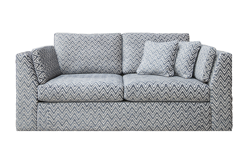 Como 2 Seater Sofa in Piper navy, Gold Collection Fabric