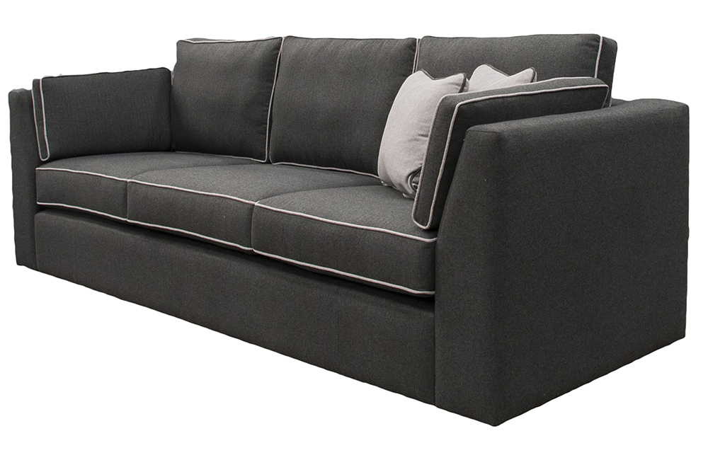 Como Small Sofa in Tweed Charcoal, Silver Fabric Collection