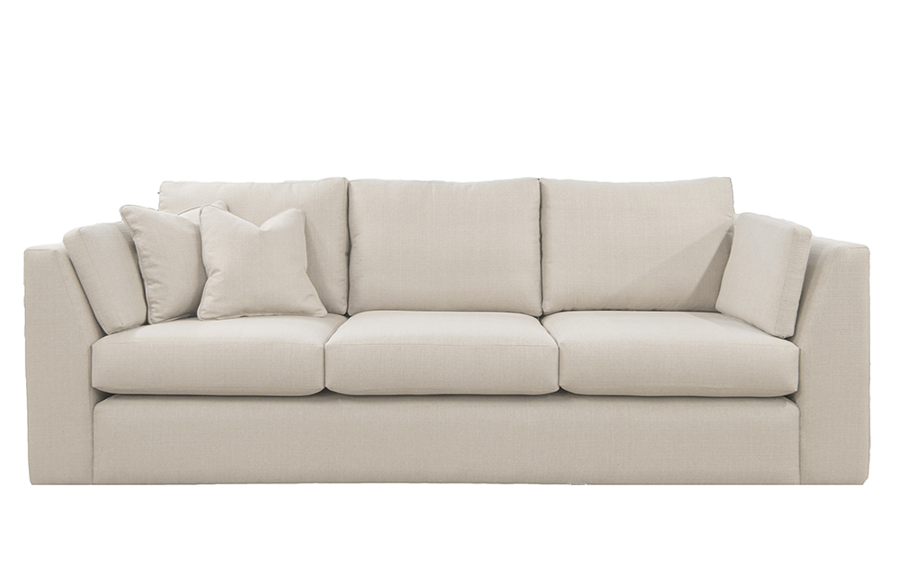 Como Large Sofa in Aosta Linen Silver Collection Fabric
