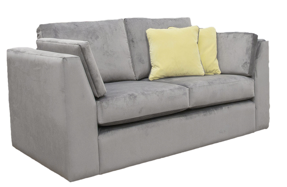 Como Small Sofa in  Luxor Dolphin, Silver Fabric Collection