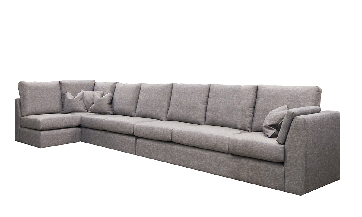 Como Corner Sofa in Ado Bark Bronze Collection of Fabrics