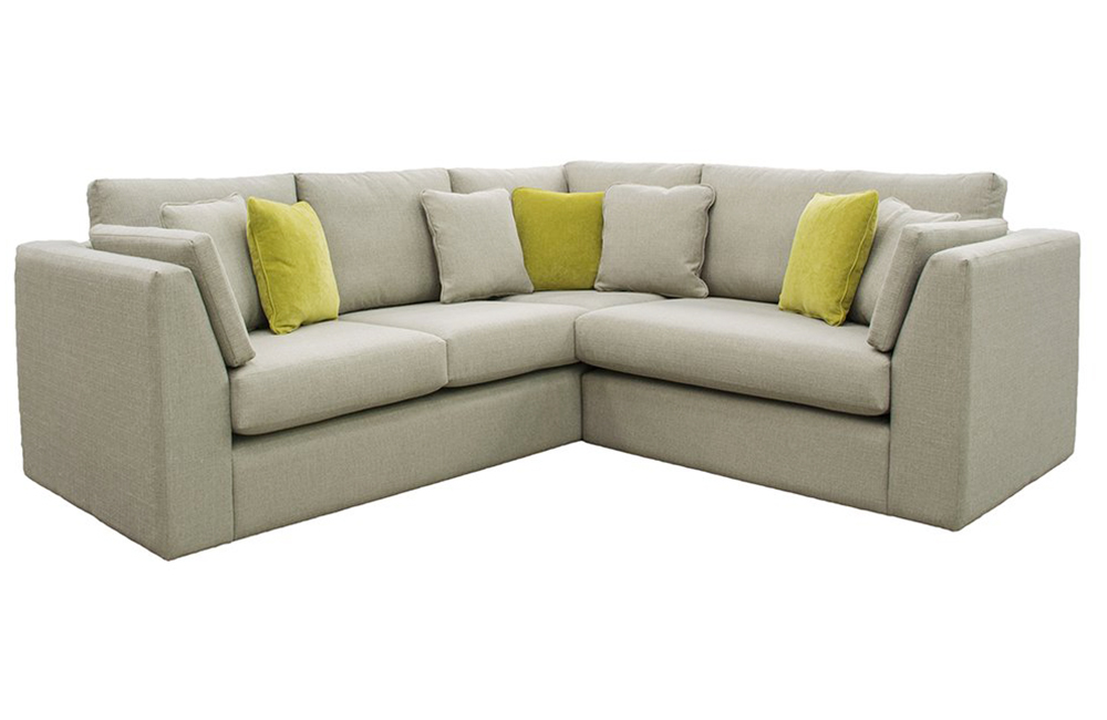 Como Corner Sofa in a Silver Fabric Collection