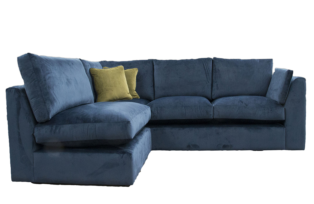 Como Corner Sofa in  Luxor Pacific Silver Fabric Collection