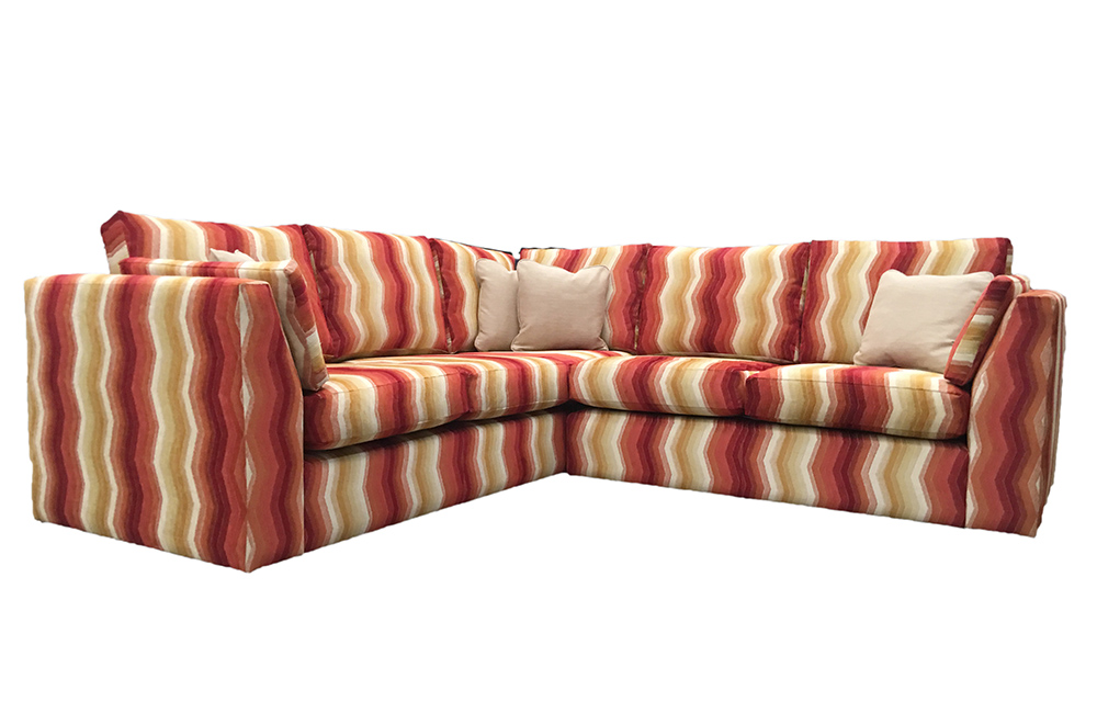 Como Corner Sofa in Aztec Stripe Bronze Fabric Collection