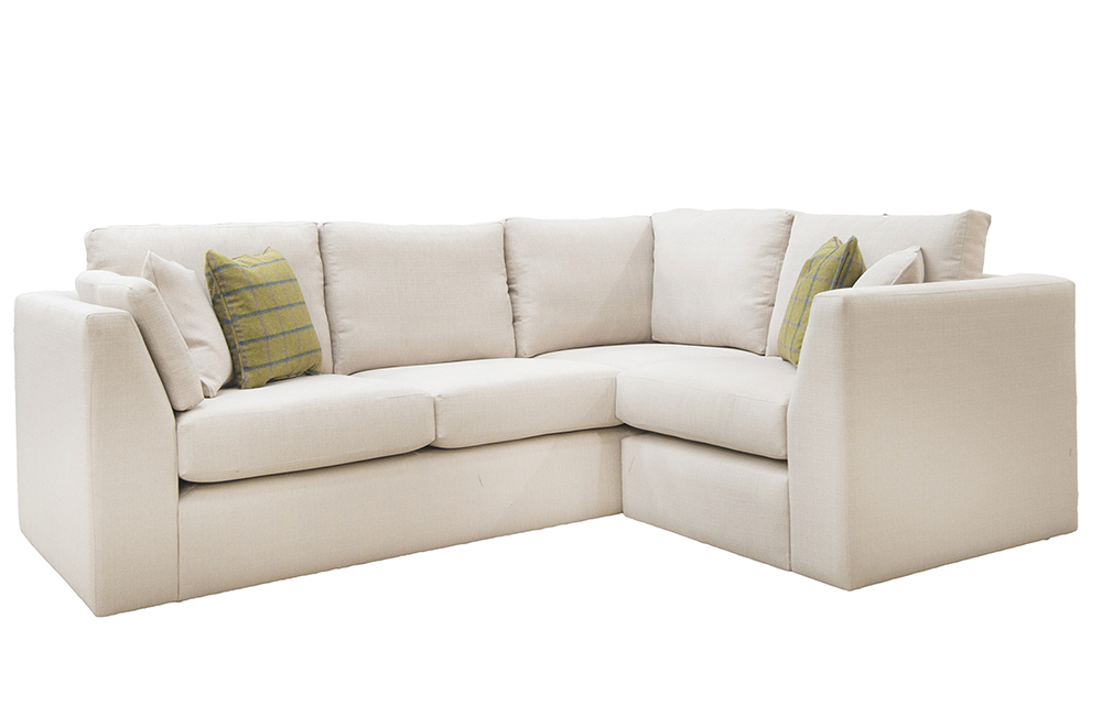 Como Corner Sofa in Aosta Linen, Silver Collection Fabric