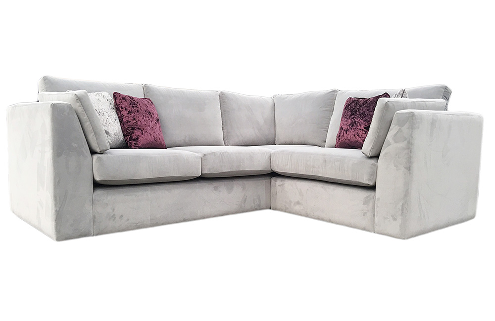 Como Corner Sofa  in Silver Fabric Collection