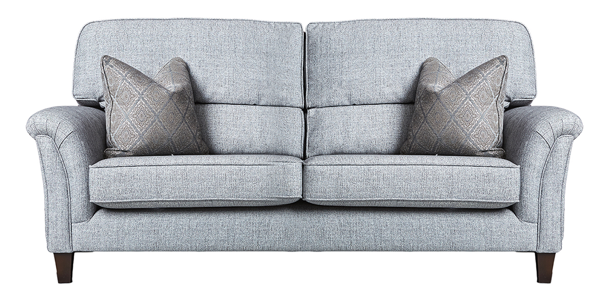 Cumbria Large Sofa in Spencer Steel Silver Collection Fabric