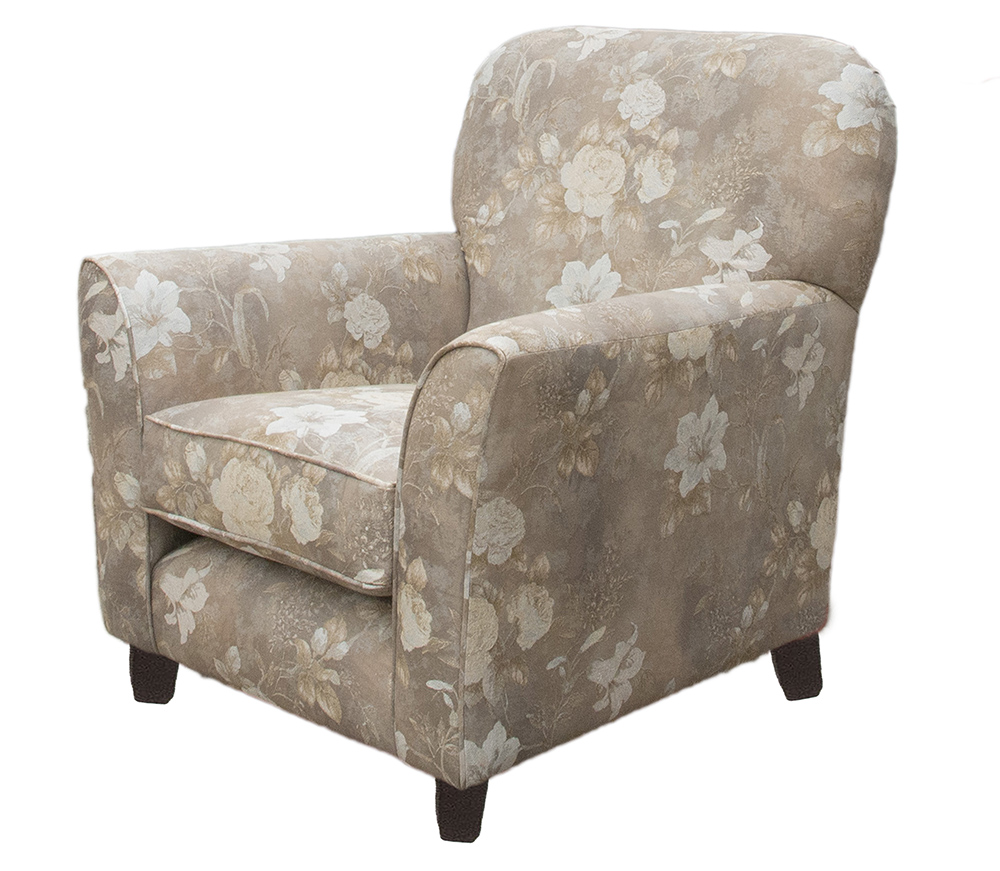 Dylan Chair Side - Oasis Pattern Pweter