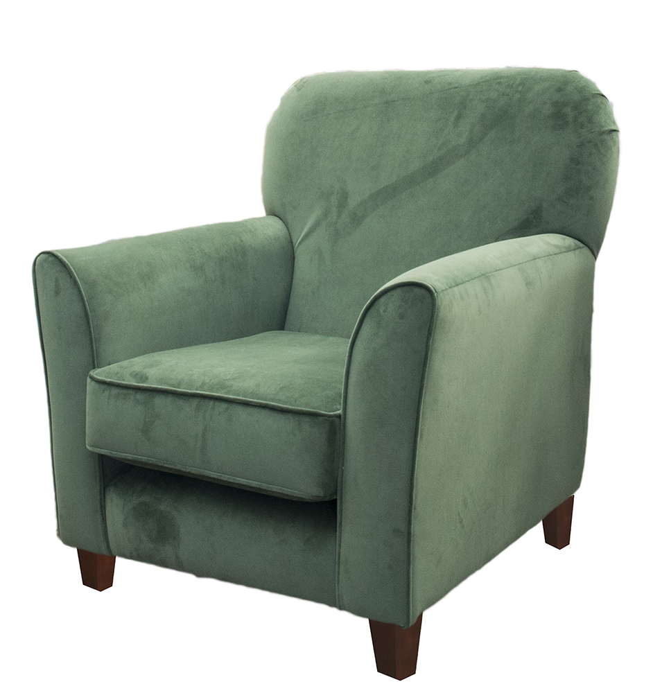 Dylan Chair Side - Warwick Plush Shamrock