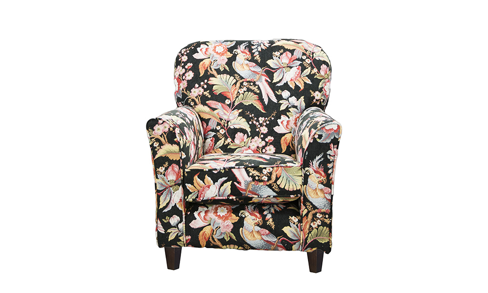 Dylan Chair in Evren Ebony, Platinum Collection Fabric