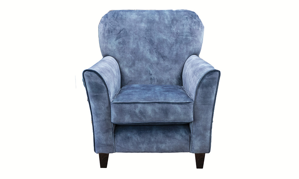 Dylan Chair in Lovley Atlantic, Gold Collection Fabric