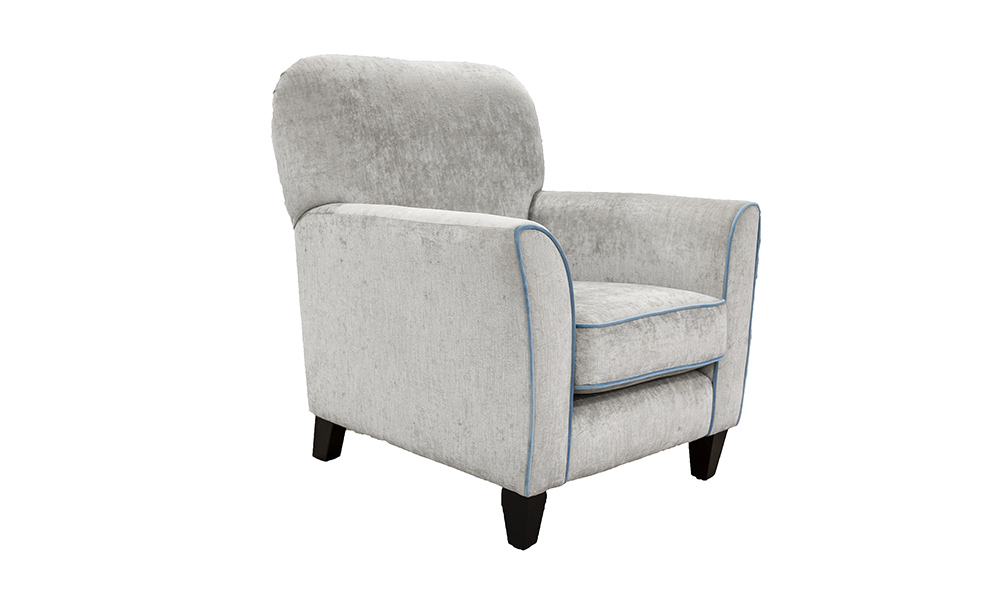 Dylan Chair in Edinburgh French Grey, Silver Collection of Fabrics