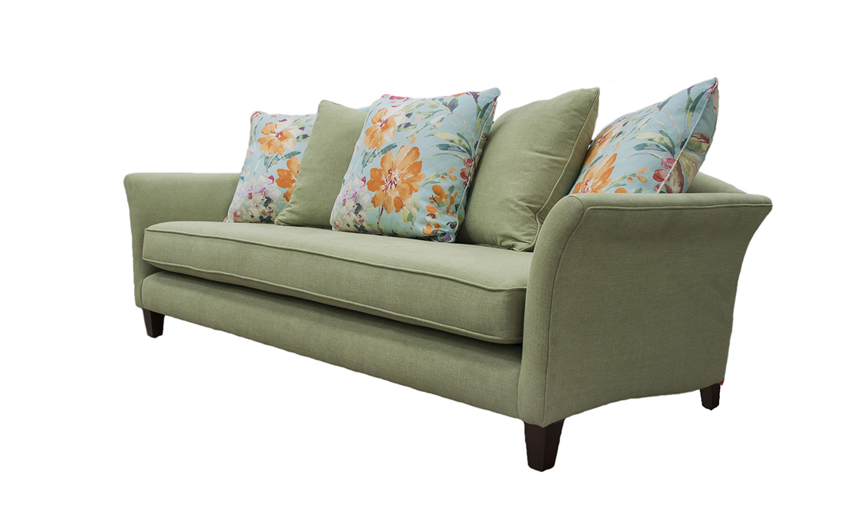 Elijah Large Sofa in Warwick Comfy Willow, Platinum Collection Fabric