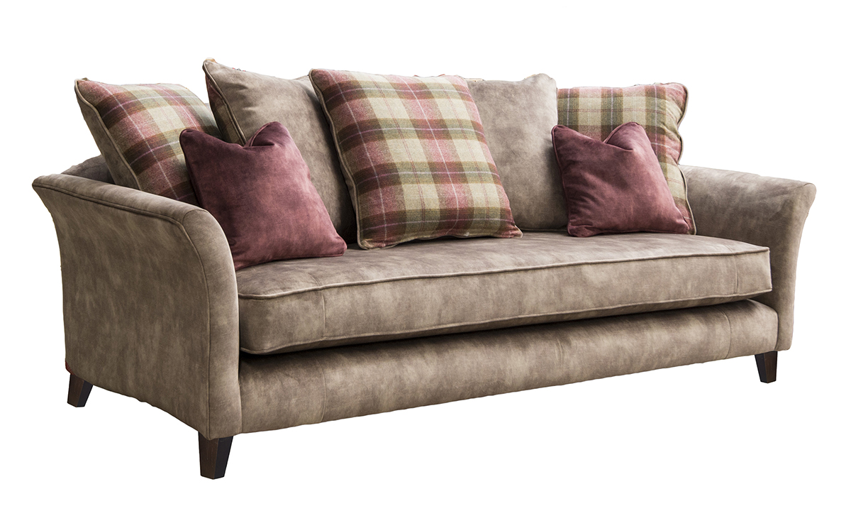 Elijah Large Sofa in Lovely Latte Gold Collection Fabric