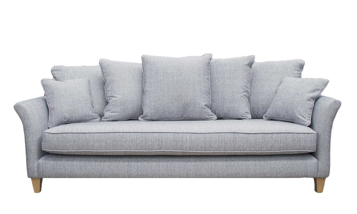 Elijah Large Sofa in Spencer Steel, Silver Collection