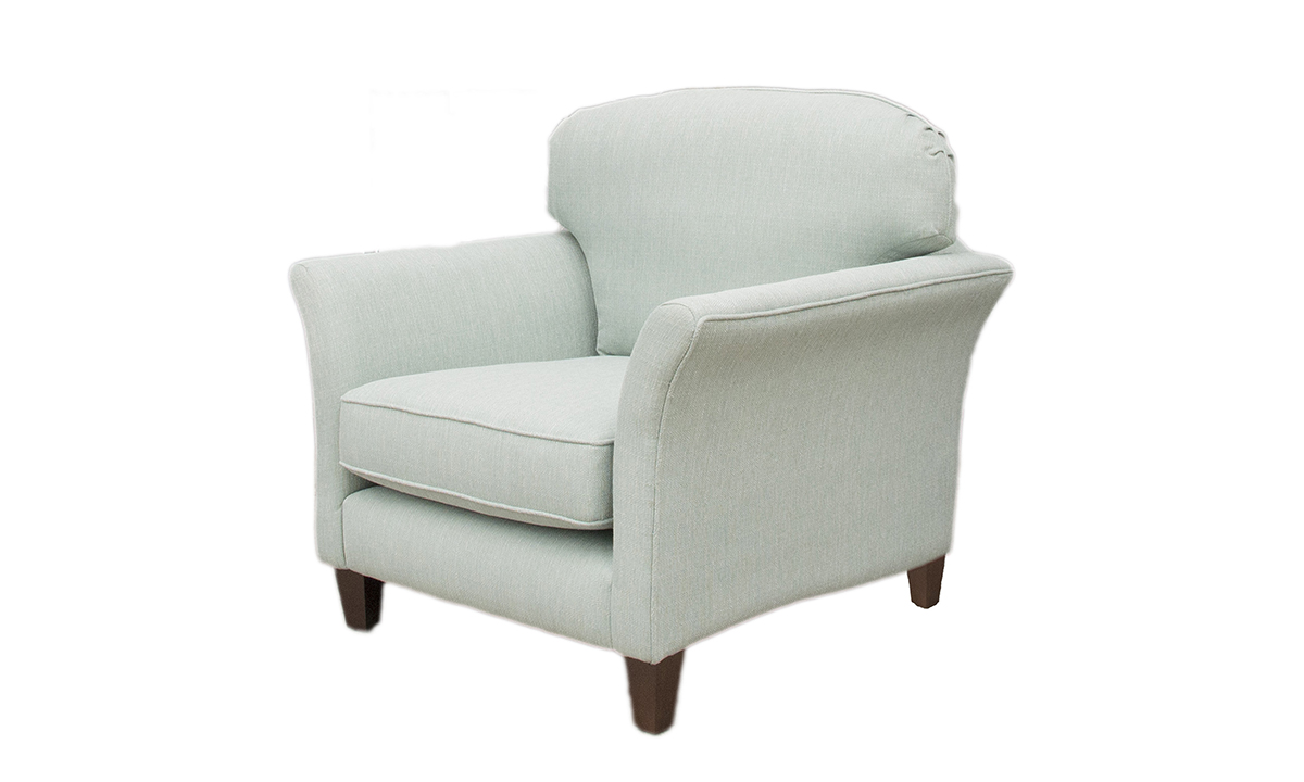Elijah Chair in Aosta Duck Egg, Silver Collection Fabric
