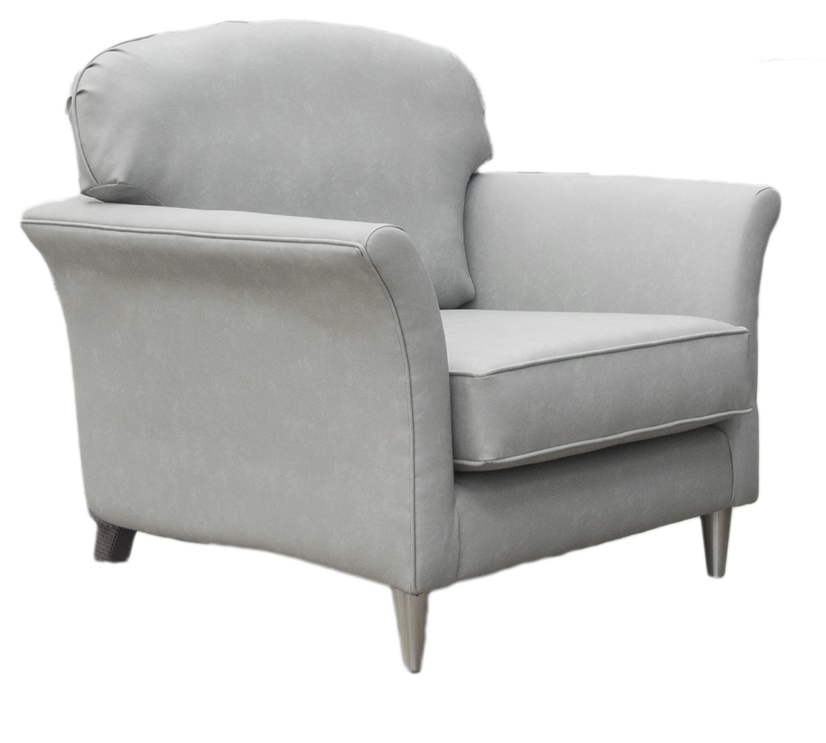 Elisha Small Chair Side in Infiniti Shadow Leatherette Platinum Collection
