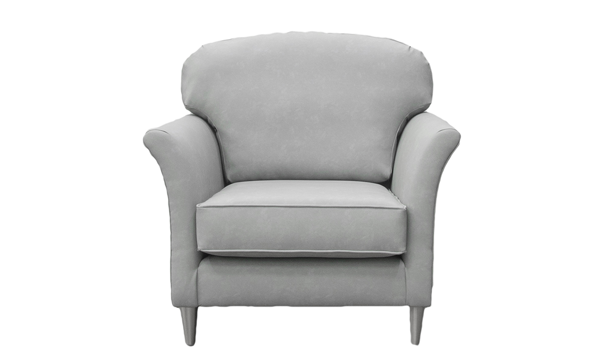 Elijah Small Chair in Infiniti Shadow Leatherette Platinum Collection