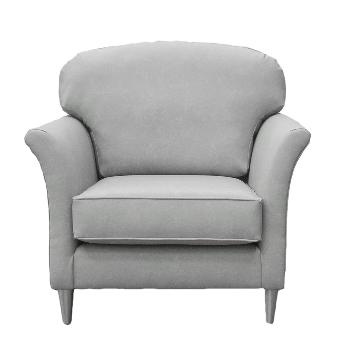 Elisha Small Chair in Infiniti Shadow Leatherette Platinum Collection