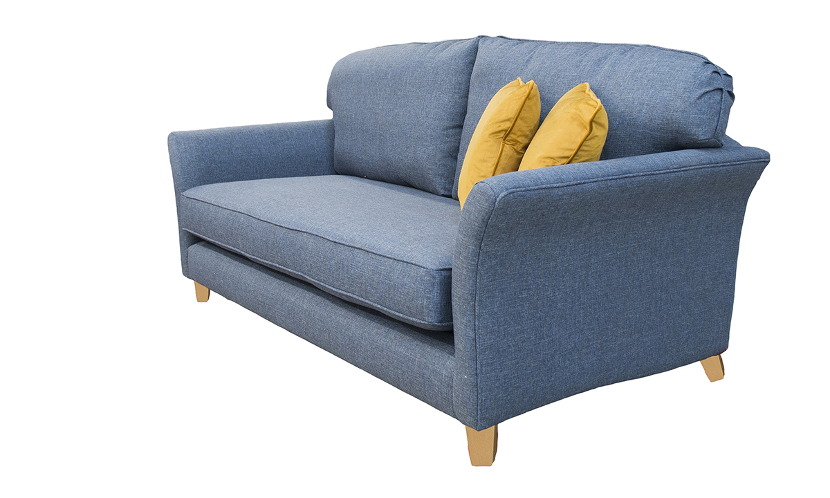 Elisha Large Sofa in Ado Marine, Bronze Collection Fabric