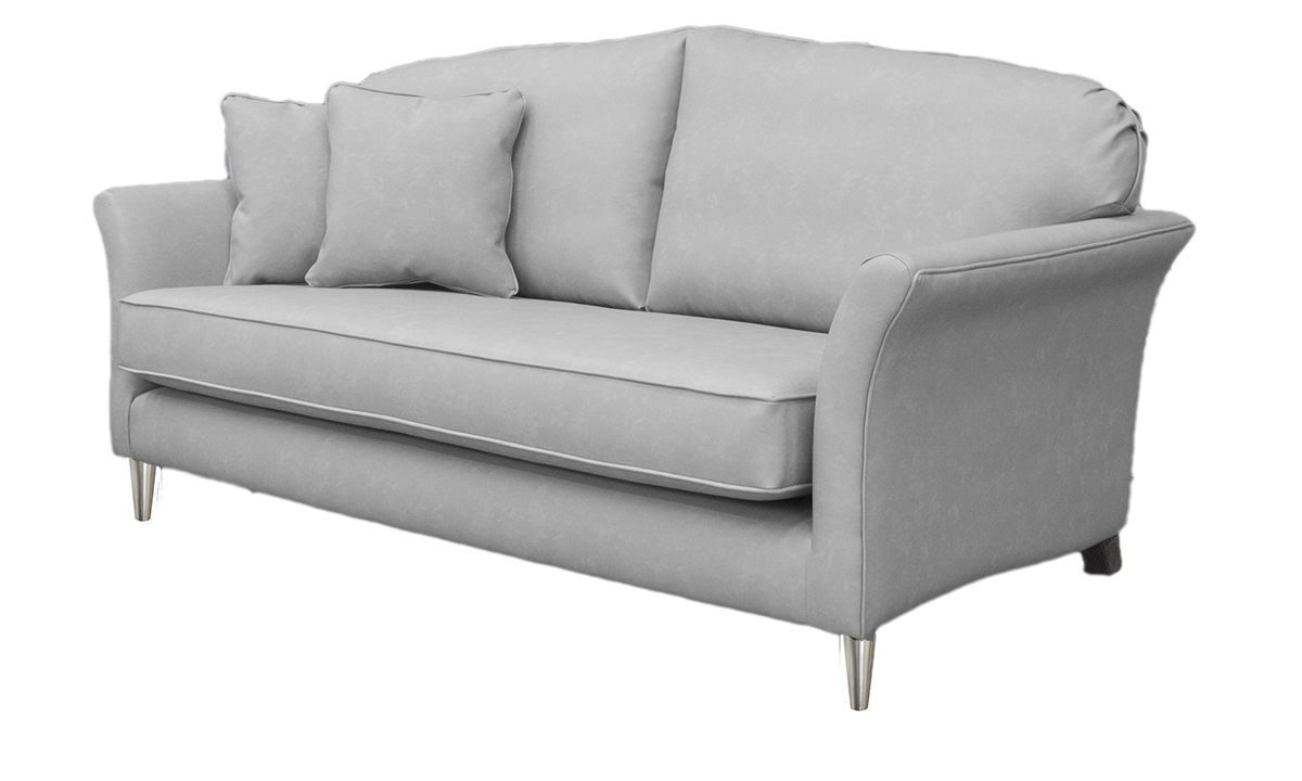 Elisha Small Sofa Side in Infiniti Shadow Leatherette Platinum Collection