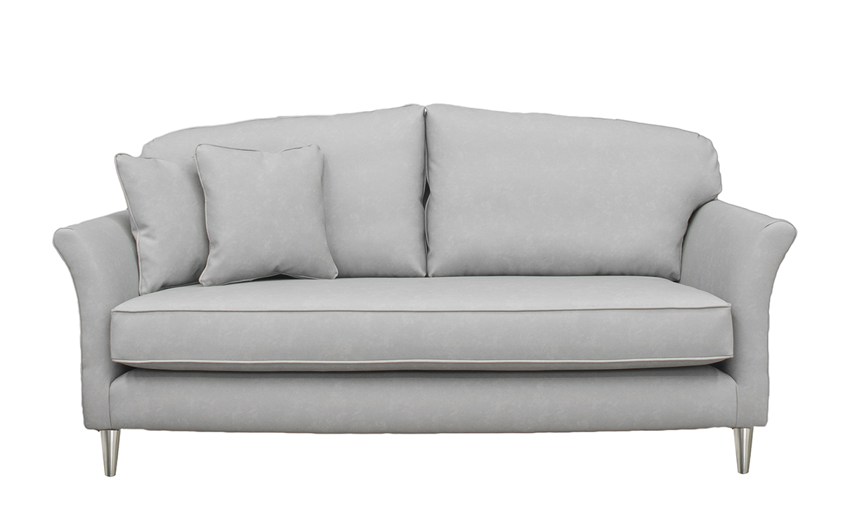 Elisha Small Sofa in Infiniti Shadow Leatherette Platinum Collection