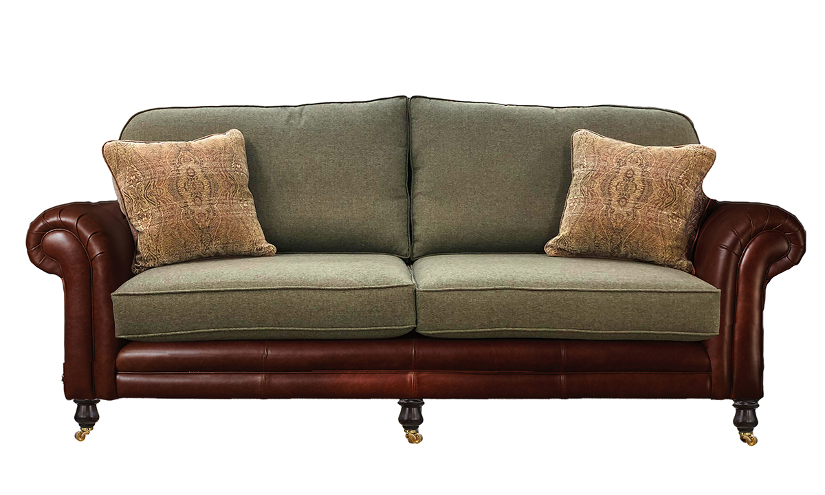 Grand Eloise Sofa, Mustang Rust & Duck Egg Tweed