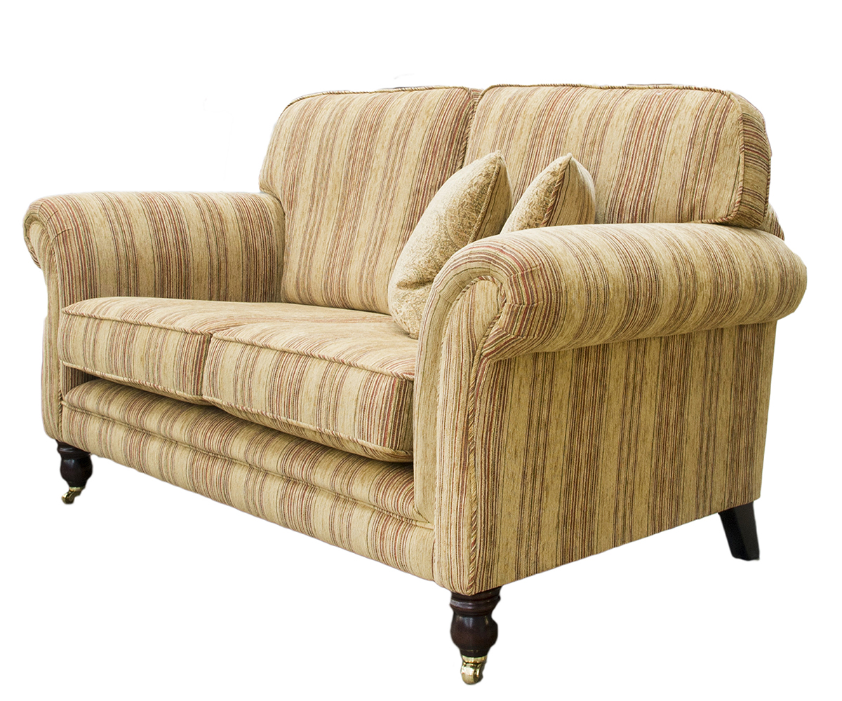 Elton Small Sofa Side in Silver Collection Fabric