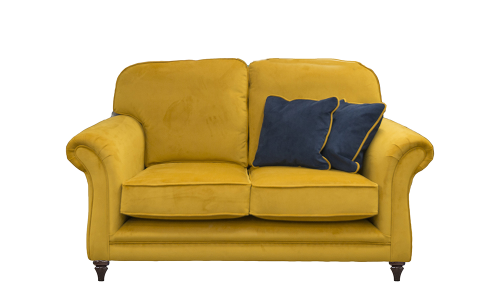 Elton 2 Seater Sofa in Plush Turmeric, Gold Collection FabricElton Small Sofa in Plush Turmeric, Gold Collection Fabric
