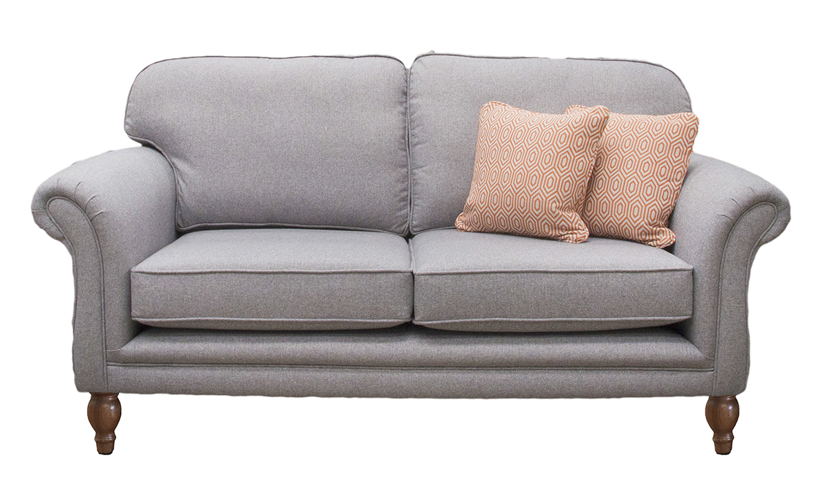 Elton 3 Seater Sofa in Tweed Gallant, Silver Collection Fabric