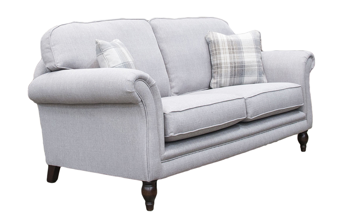 Elton 3 Seater Sofa in Aosta Silver, Silver Collection back