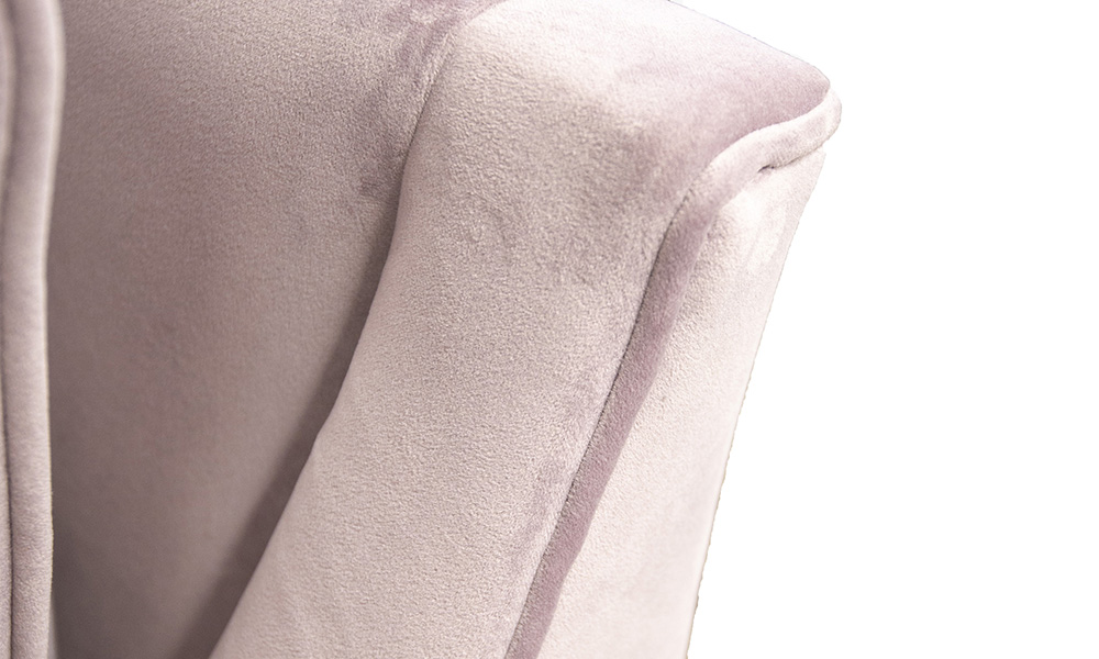 Geneva Chair Back Detail, Jbrown Amalfi Lilac, Gold Collection Fabric