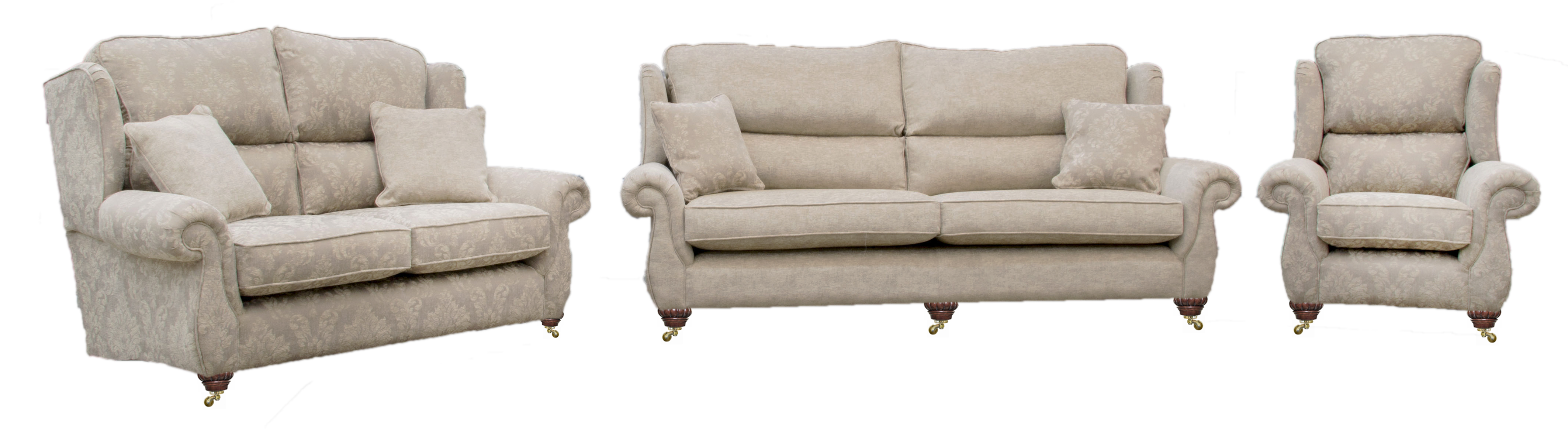Greville small, grand sofa & chair - bronze collection