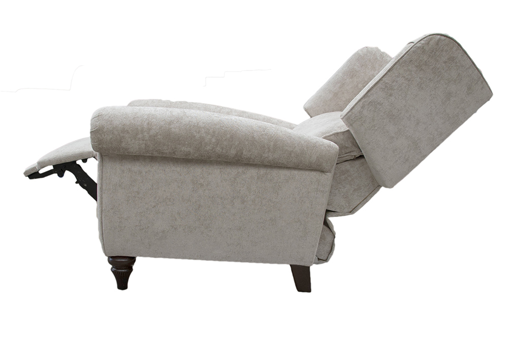 Greville Recliner Chair Fully Open Side - Cristina Marrone Nuovo Stone 2046