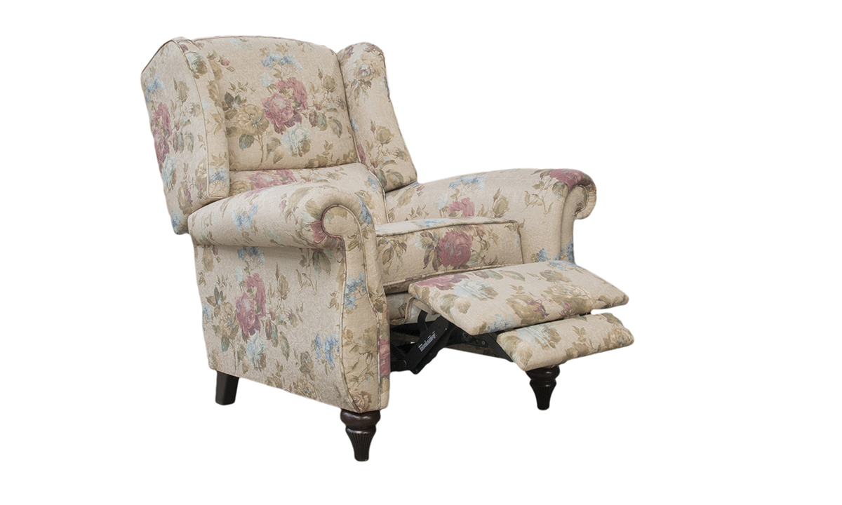 Greville Recliner Chair in Rioma Fiesole Colour 03 Platinum Collection Fabric