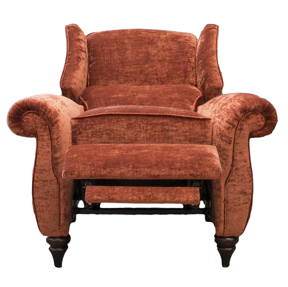 Greville Recliner Chair Open - JBrown Modena Terracotta 13105