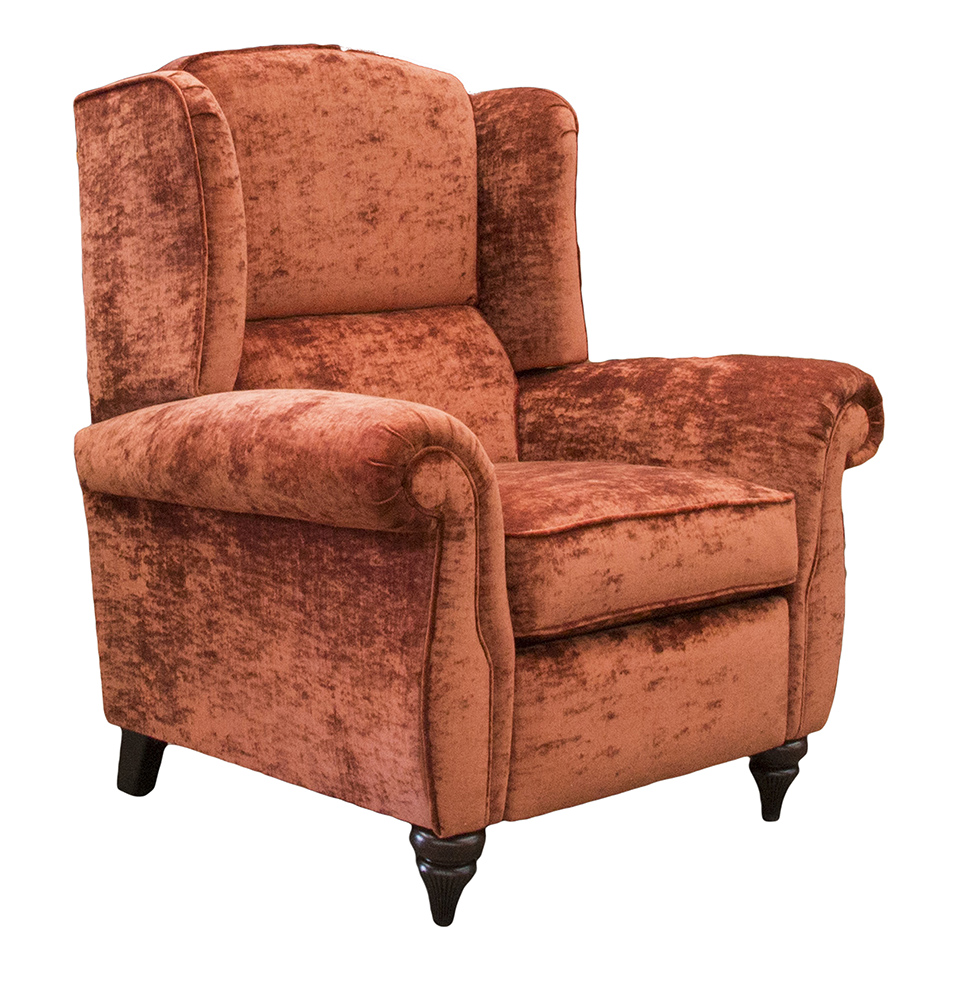 Greville Recliner Chair Side - JBrown Modena Terracotta 13105