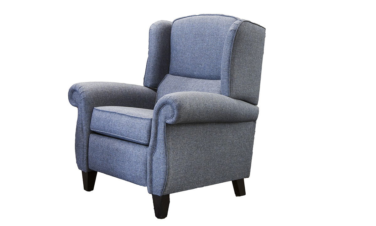 Greville Recliner Chair in Ado Marine, Bronze Collection Fabric