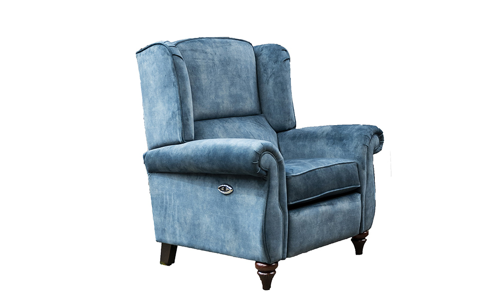 Greville Recliner Chair in Lovely Ocean,Gold Collection Fabric
