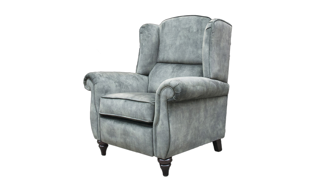 Greville Recliner Chair  in Lovely Jade, Gold Collection Fabric